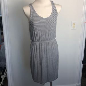 Black and white striped dress size small
